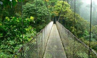 Puente colgante en Costa Rica accesible para silla de ruedas