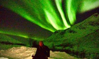 Auroras boreales en silla de ruedas