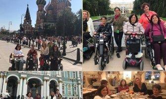 Rusia en silla de ruedas eléctrica